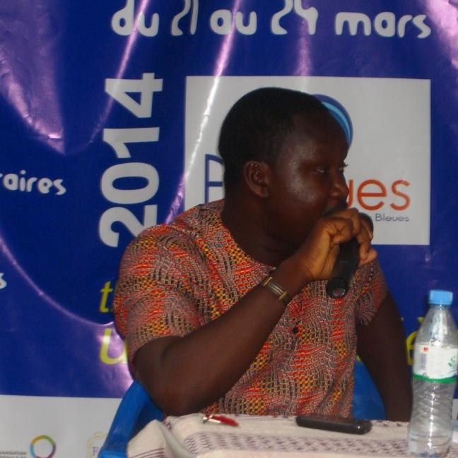 David Kpelly au Festival Littéraire international Les Lucioles Bleues (Lomé, 2014)