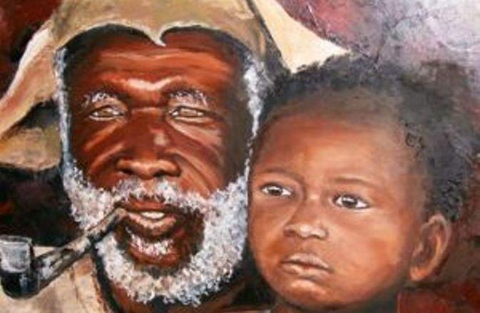 Homme âgé d'Afrique (Crédit image: www.livegalerie.com)