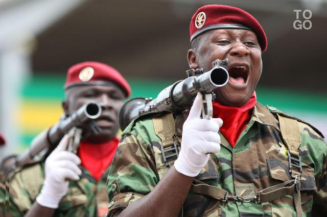Militaires togolais (Crédit image: www.republicoftogo.com)